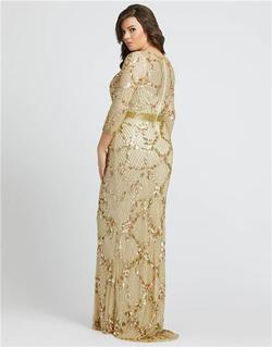 Style 4851 Mac Duggal Gold Size 14 Tall Height Straight Dress on Queenly