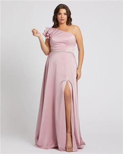 Style 48979 Mac Duggal Light Pink Size 24 Bridesmaid Straight Dress on Queenly
