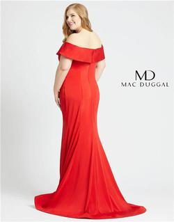 Style 66812 Mac Duggal Red Size 16 Tall Height Mermaid Dress on Queenly