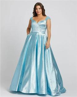 Style 67236 Mac Duggal Blue Size 14 Tall Height Ball gown on Queenly