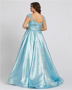 Style 67236 Mac Duggal Blue Size 16 Sleeves Ball gown on Queenly