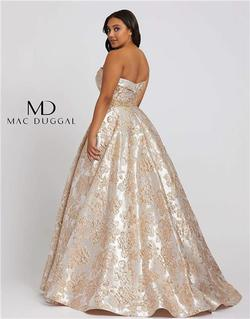 Style 67238 Mac Duggal Gold Size 14 Tall Height Ball gown on Queenly
