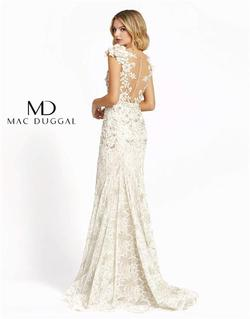 Style 79268 Mac Duggal White Size 6 Tall Height Lace Mermaid Dress on Queenly