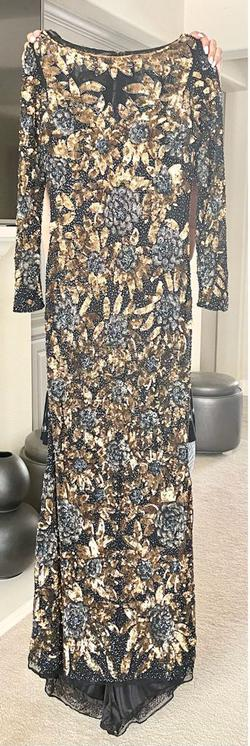 I bought it from turkey Gold Size 12 Jewelled Sequin Train Dress on Queenly