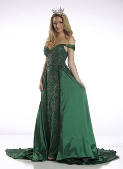 Tony Bowls Green Size 2 Fitted Train Dress on Queenly