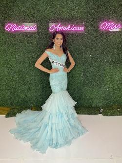 Sherri Hill Light Blue Size 00 Mermaid Dress on Queenly