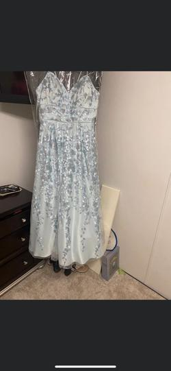 Cachet Blue Size 18 Plus Size Pageant Straight Dress on Queenly