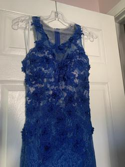 2 Cute Royal Blue Size 4 Pageant Straight Dress on Queenly