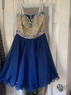 Sherri Hill Royal Blue Size 4 Cocktail A-line Dress on Queenly