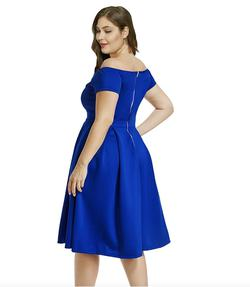 Style B07BPXV9LM Lalagen Blue Size 18 Sweetheart Tall Height Wedding Guest Cocktail Dress on Queenly