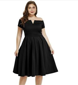 Style B07BPXV9LM Lalagen Black Size 20 Spandex Tall Height Cocktail Dress on Queenly