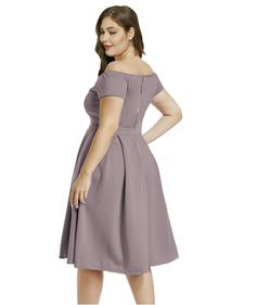 Style B07BPXV9LM Lalagen Purple Size 20 Sweetheart Tall Height Wedding Guest Cocktail Dress on Queenly