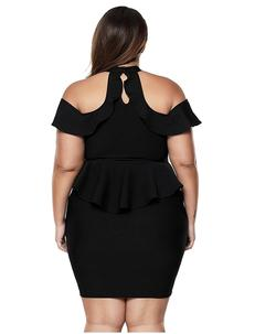 Style B07BPSZ3DL Lalagen Black Size 20 Tall Height Mini Cocktail Dress on Queenly