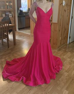Jovani Pink Size 2 Train Mermaid Dress on Queenly