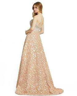 Style 67695 Mac Duggal Gold Size 0 Tall Height Ball gown on Queenly