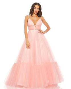 Style 67557 Mac Duggal Pink Size 0 Tall Height Ball gown on Queenly