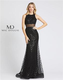Style 67329 Mac Duggal Black Size 0 Prom Halter Mermaid Dress on Queenly