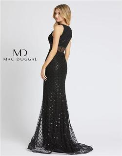 Style 67329 Mac Duggal Black Size 6 Prom Mermaid Dress on Queenly