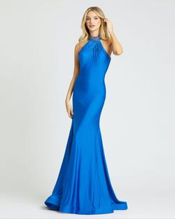 Style 67129 Mac Duggal Blue Size 4 Tall Height Mermaid Dress on Queenly