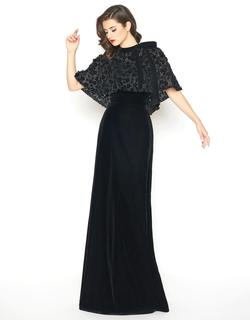 Style 66590 Mac Duggal Black Size 4 Tall Height Wedding Guest Straight Dress on Queenly