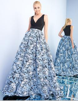 Style 55226 Mac Duggal Blue Size 8 Tall Height Ball gown on Queenly