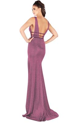 Style 50571 Mac Duggal Purple Size 4 Sorority Formal Tall Height Wedding Guest Mermaid Dress on Queenly