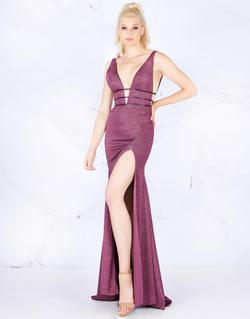 Style 50571 Mac Duggal Purple Size 8 Tall Height Wedding Guest Mermaid Dress on Queenly
