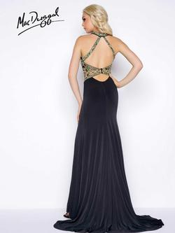 Style 50365 Mac Duggal Black Size 0 Tall Height Side slit Dress on Queenly