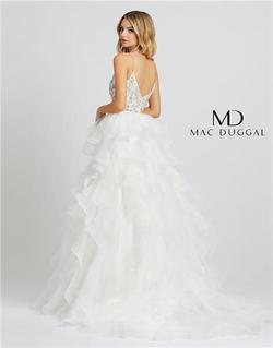 Style 48959 Mac Duggal White Size 4 Tall Height Ball gown on Queenly