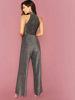 Silver Size 4 Jumpsuit Dress on Queenly