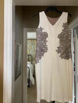 Ashley Lauren White Size 8 Mini Straight Dress on Queenly