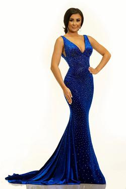 Style 2308 Johnathan Kayne Royal Blue Size 8 Pageant Mermaid Dress on Queenly
