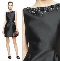 Kate Spade Black Size 12 Plunge Cocktail Sequin A-line Dress on Queenly
