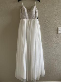 Adrianna Papell White Size 2 Wedding A-line Dress on Queenly