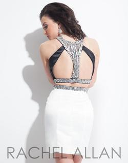 Style 3998RA Rachel Allan Black Size 4 Halter Sorority Formal Tall Height Cocktail Dress on Queenly
