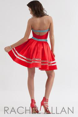 Style 4195RA Rachel Allan Red Size 8 Flare Two Piece Cocktail Dress on Queenly