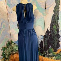 R&M Richards  Blue Size 12 Bridesmaid Plus Size Ball gown on Queenly