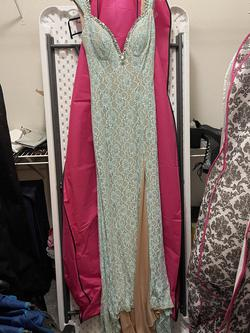 Johnathan Kayne Blue Size 10 Prom A-line Dress on Queenly