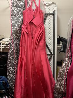 Rachel Allan Pink Size 12 Prom Halter Mermaid Dress on Queenly