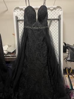 Rachel Allan Black Size 16 Sweetheart Lace Train Dress on Queenly