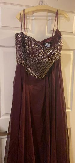 Mac Duggal Red Size 22 Burgundy Straight Dress on Queenly