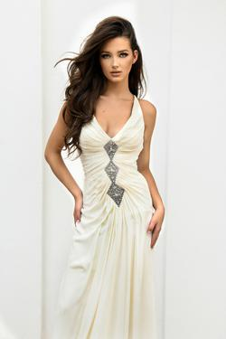 Stephen Yearick White Size 0 Wedding Prom Mermaid Dress on Queenly