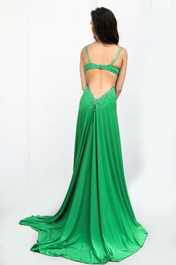 Couture Green Size 0 Side slit Dress on Queenly