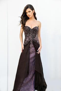 Stephen Yearick Purple Size 0 Prom Strapless Straight Dress on Queenly