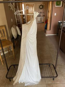 Mignon Gold Size 4 Pageant Straight Dress on Queenly