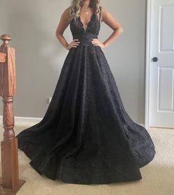 Tarik Ediz Black Size 2 Pageant Backless Ball gown on Queenly