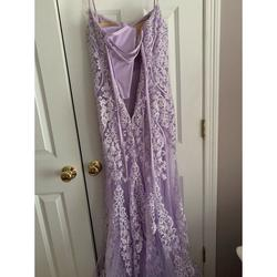 Jovani Purple Size 00 Sweetheart Fitted Mermaid Dress on Queenly