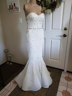 Terani Couture White Size 00 Sweetheart Sheer Wedding Guest Mermaid Dress on Queenly