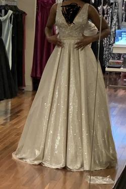 Jovani Gold Size 0 Pageant Ball gown on Queenly