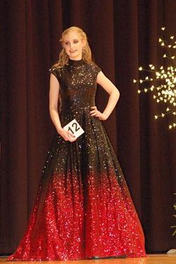 Jovani Red Size 2 Ombre Pageant Sequin Ball gown on Queenly